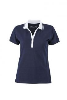 TEXTIL Ladies Elastic Polo Shortsleeved