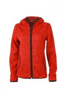 mikiny Ladies Knitted Fleece Hoody