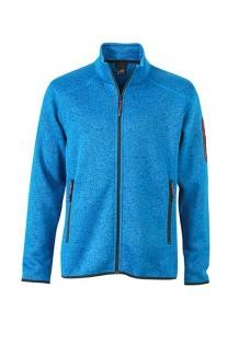 TEXTIL Mens Knitted Fleece Jacket